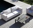 Achat Salon De Jardin Génial Salon De Jardin Blanc Avec Un Canapé Et Un Fauteuil Avec Une
