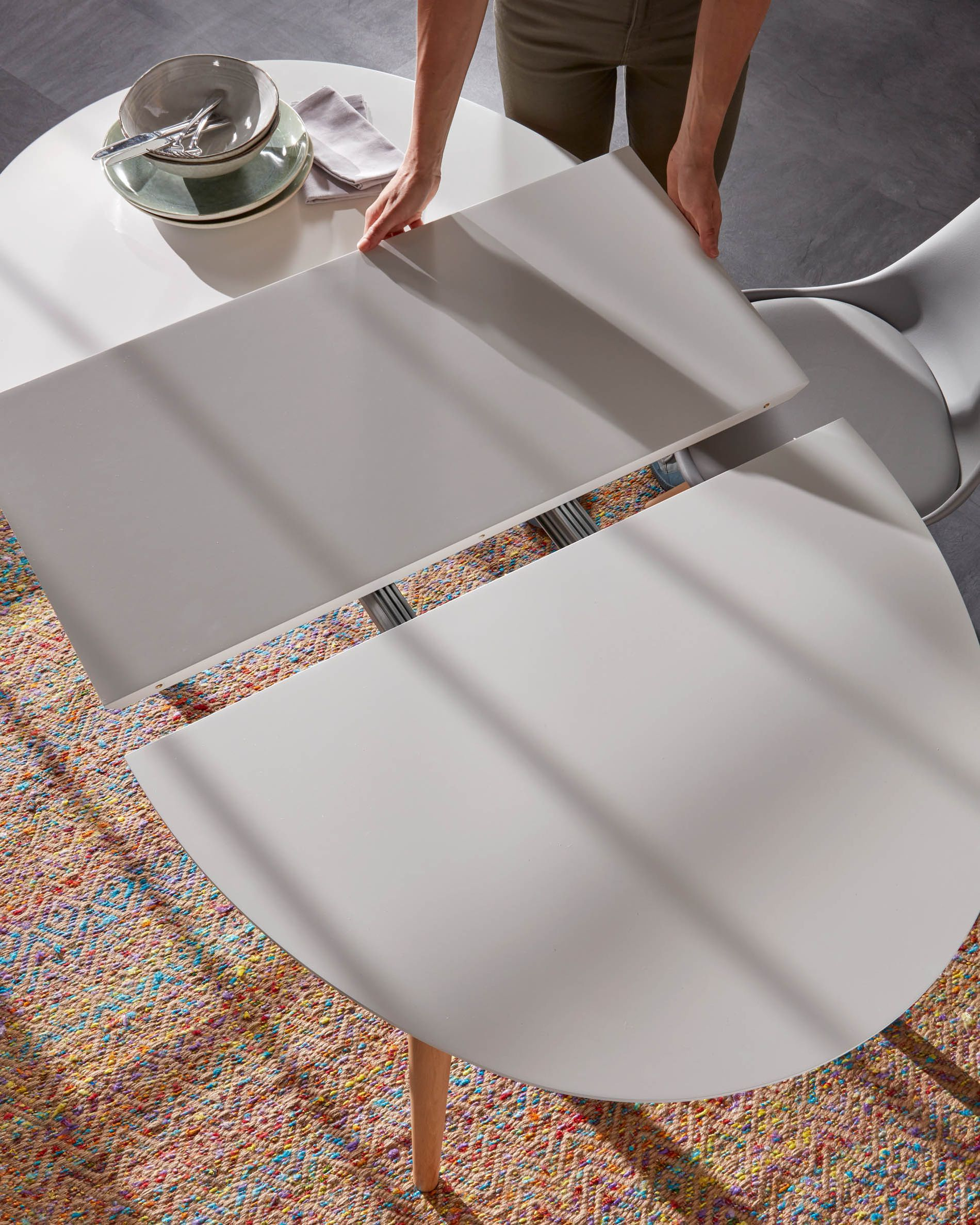 Achat Table Nouveau Oqui Extendable Oval Table 120 200 X 90 Cm White