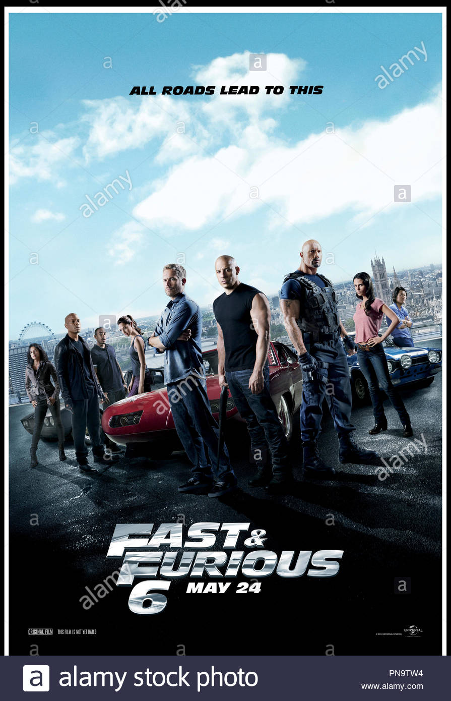 prod db universal pictures original film dr fast furious 6 fast and furious 6 de justin lin 2013 usa affiche americaine suite sequelle action PN9TW4