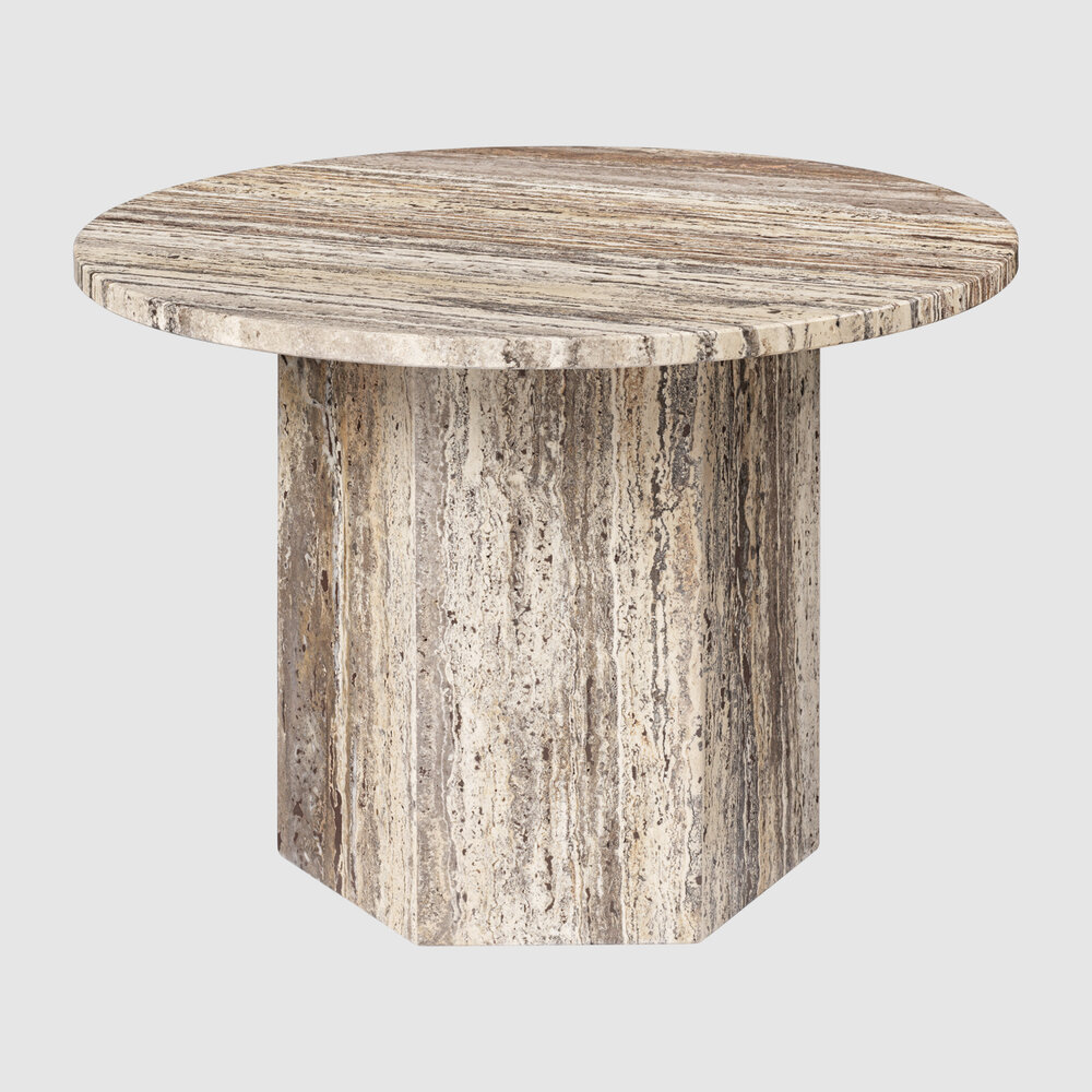 Epic CoffeeTable Round 60 GreyTravertine