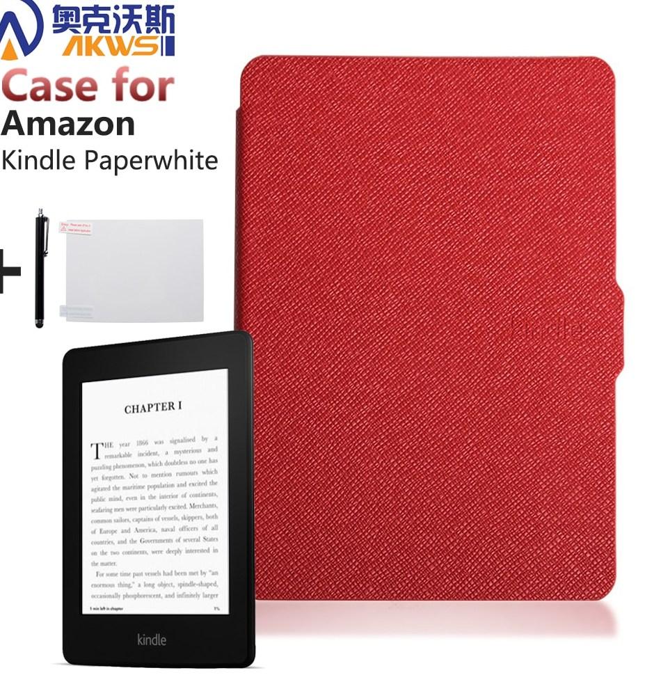 Mince Couverture De Mode Pour Amazon Kindle Paperwhite Cas 6 Ereader étui En Cuir pour Kindle