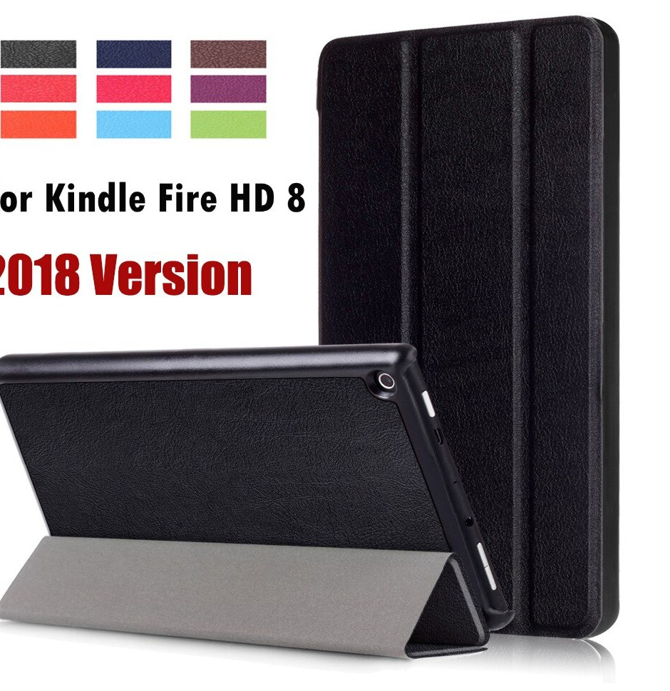 For Amazon Kindle 2018 New Fire HD 8 Business Painted Print PU Leather Flip Smart Sleep