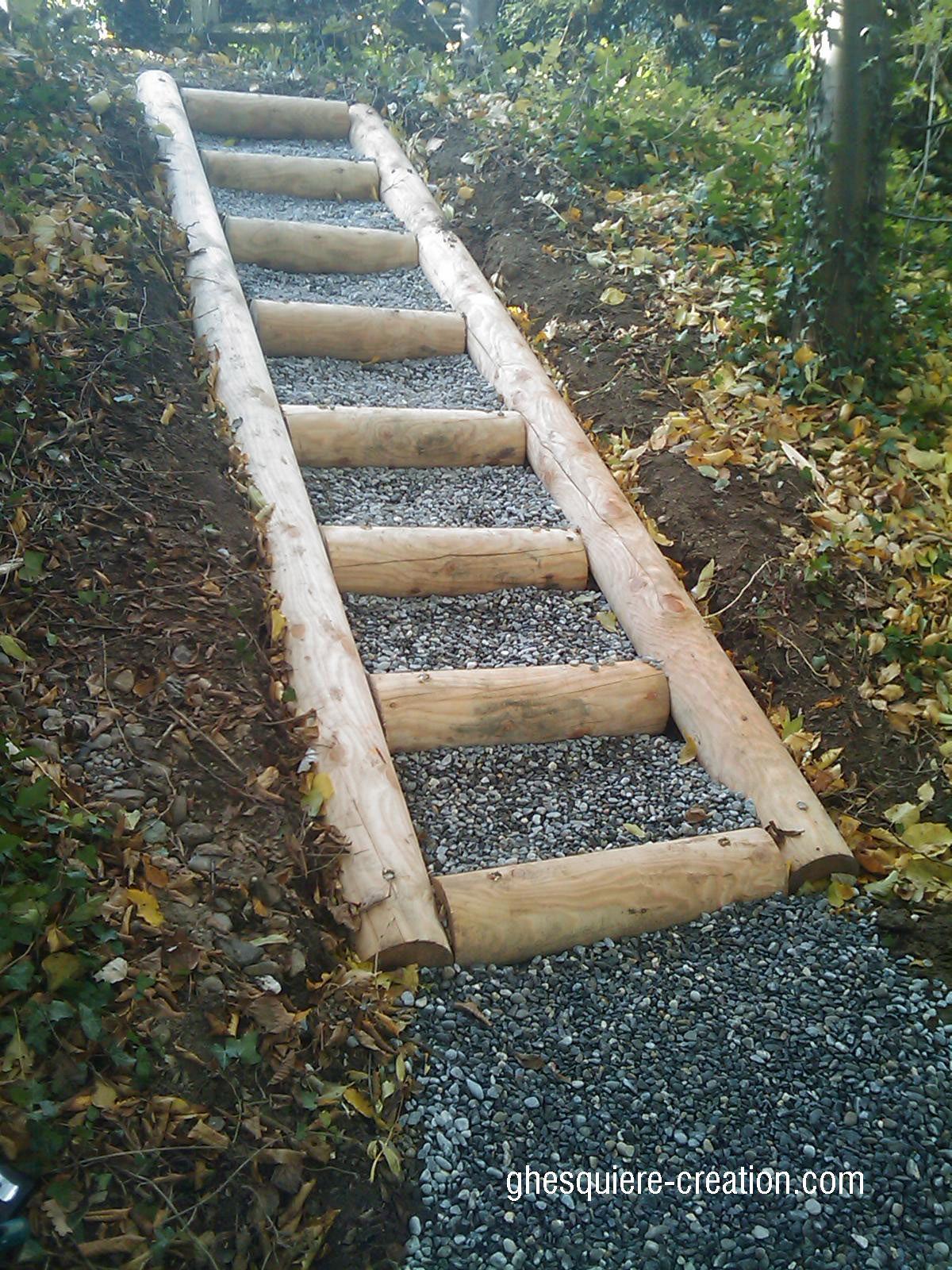 Amenagement Jardin Bois Beau Escalier En Meleze Jardin