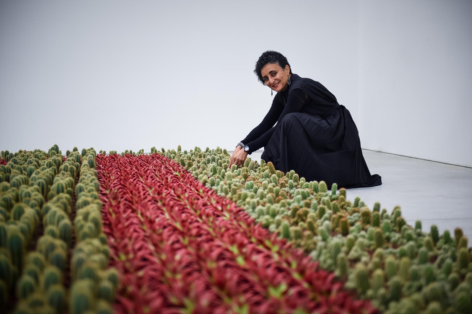 ghada amer artiste franco egyptienne a cree un jardin anti machiste de cactus 1