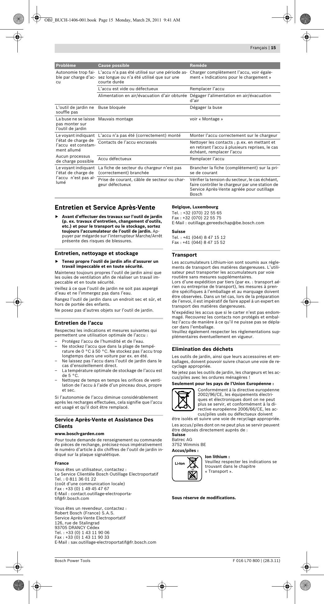 BoschAlb18Li User Guide Page 16