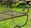 Banc De Jardin 2 Places Charmant Motif Fleur De Lys Marron Style Antique Banc Pour Jardin En