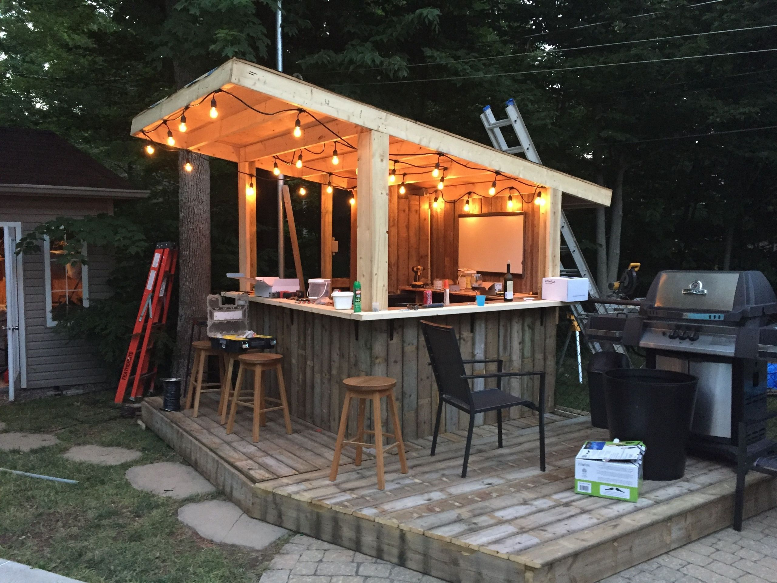 Bar De Jardin En Bois Frais Shed Diy Tiki Bar Backyard Pool Bar Built with Old Patio Of 36 Luxe Bar De Jardin En Bois