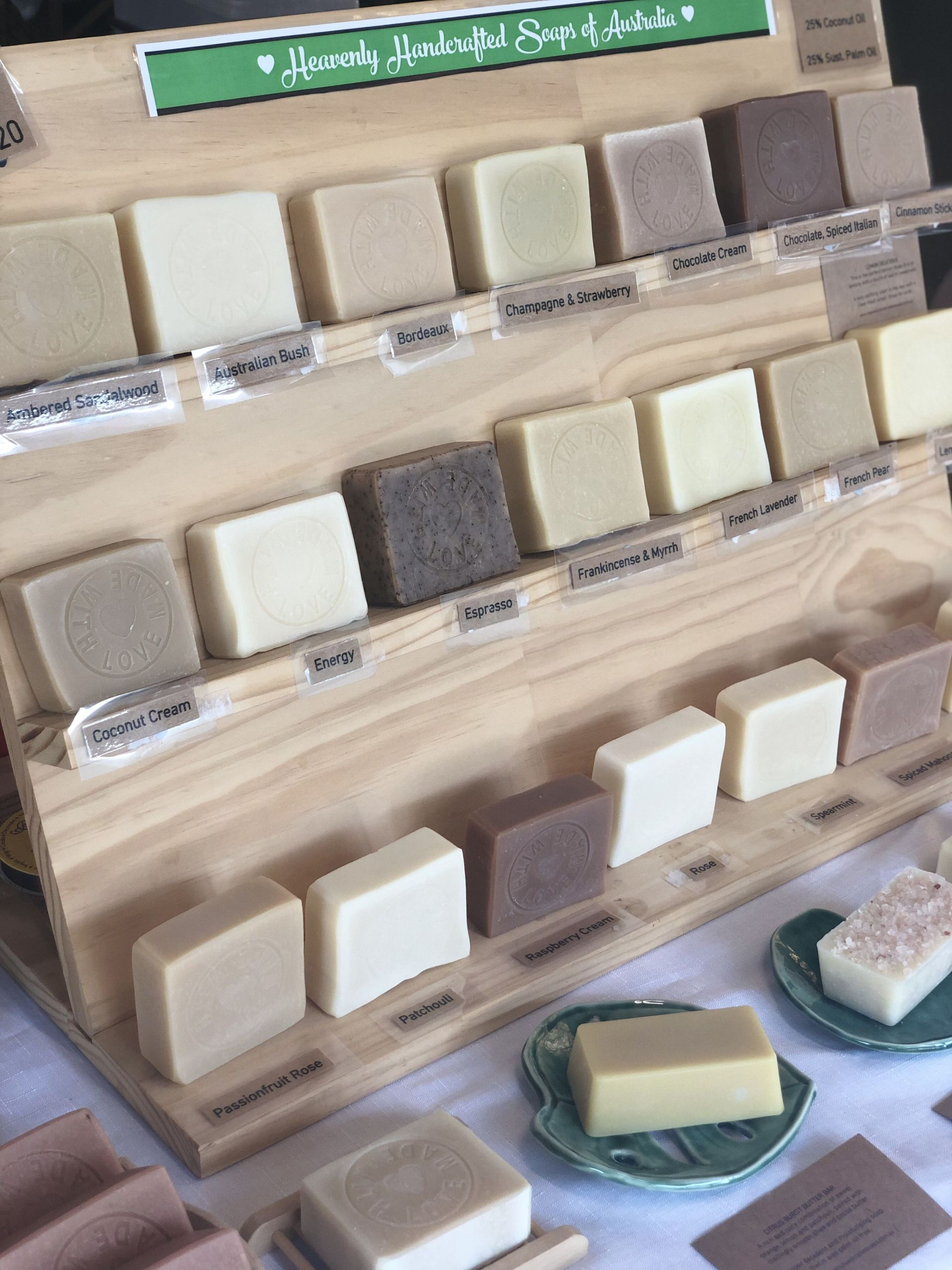 Bar De Jardin En Bois Unique All Of My Natural soaps Lined Up On Display Ready for Of 36 Luxe Bar De Jardin En Bois