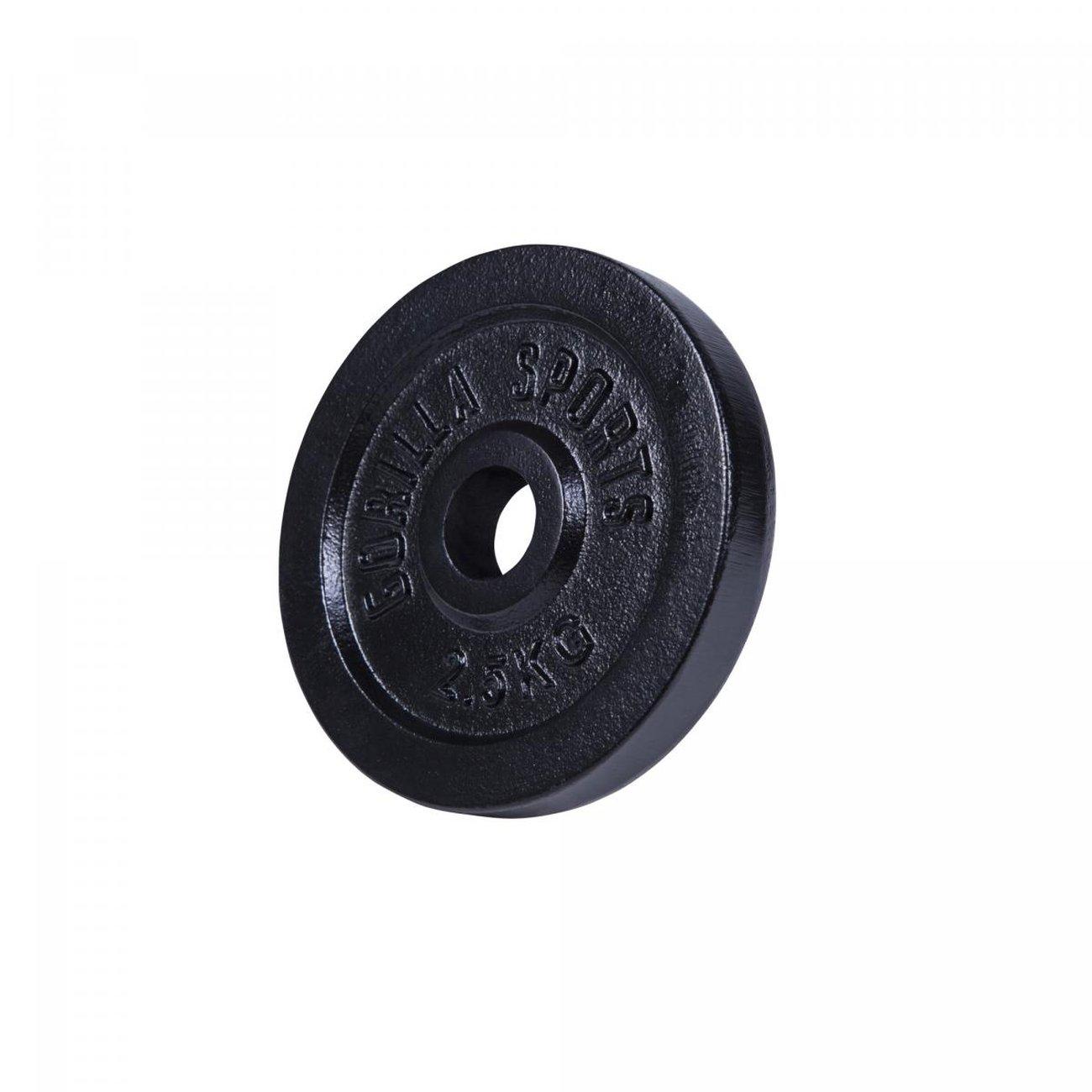 gorilla sports disques de poids en fonte noir de 05 kg a 30 kg poids 25 kg 4 v5