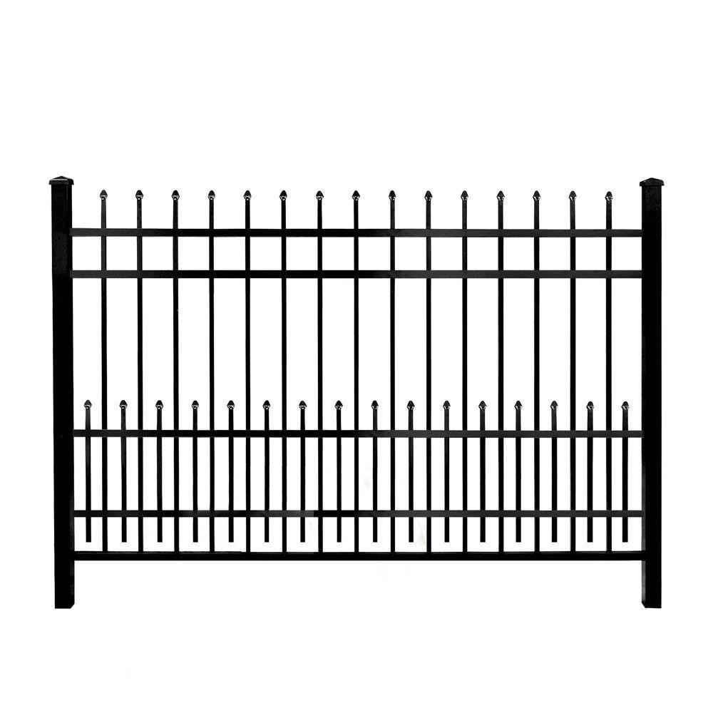 Barnum Brico Depot Beau Mainstreet Aluminum Fence 3 4 In X 2 Ft X 6 Ft Black Of 34 Beau Barnum Brico Depot