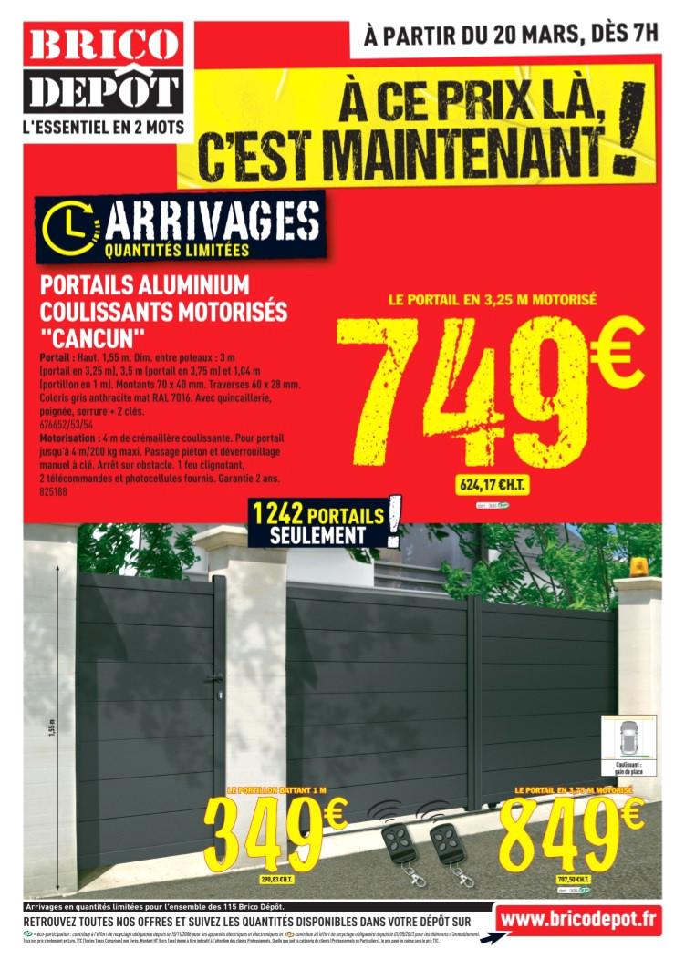 portail en aluminium brico depot hi66 jornalagora con carport bois idees design portail exterieur brico depot