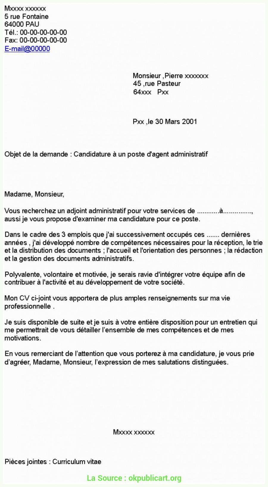 lettre de motivation pour le poste dassistant administratif 7466