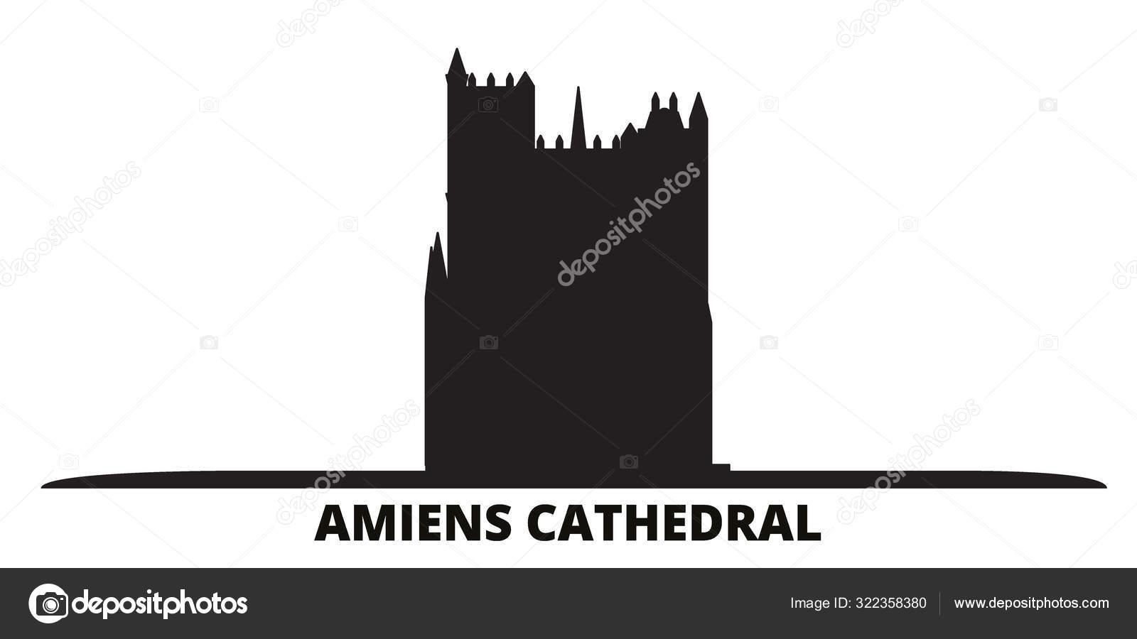 depositphotos stock illustration france amiens cathedral city skyline