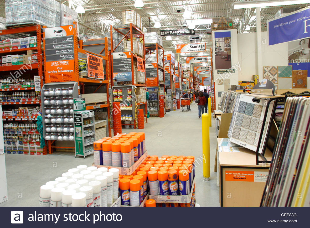 interior of home depot home improvement store CEP83G