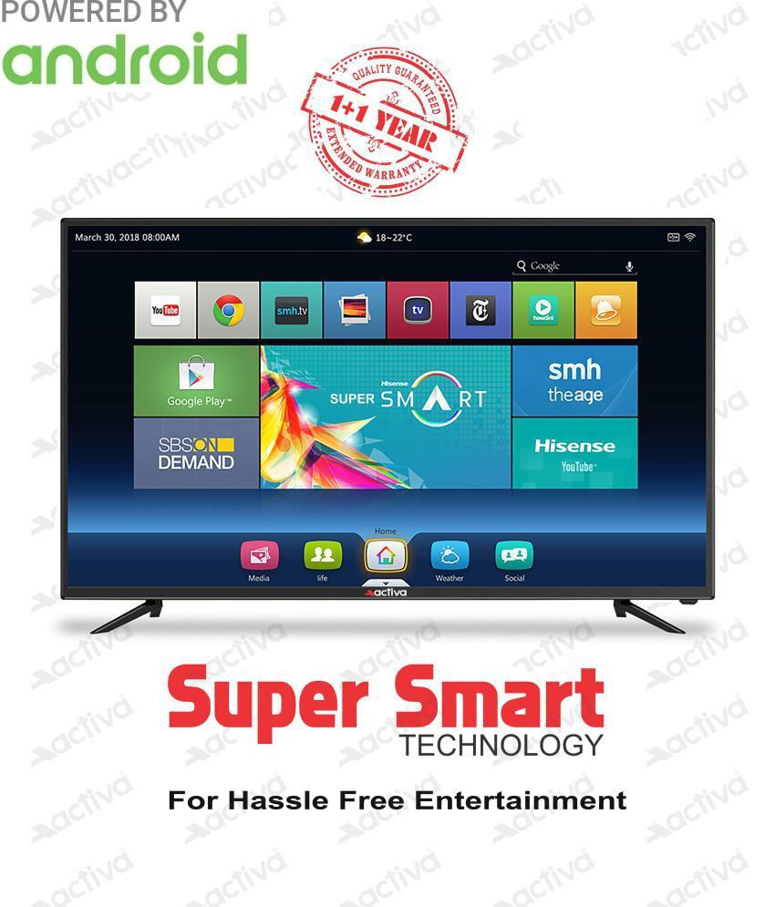 C Discount Tv Frais Activa Act 40 Smart android 102 Cm 40 Full Hd Led Television with 1 1 Year Extended Warranty Of 23 Inspirant C Discount Tv