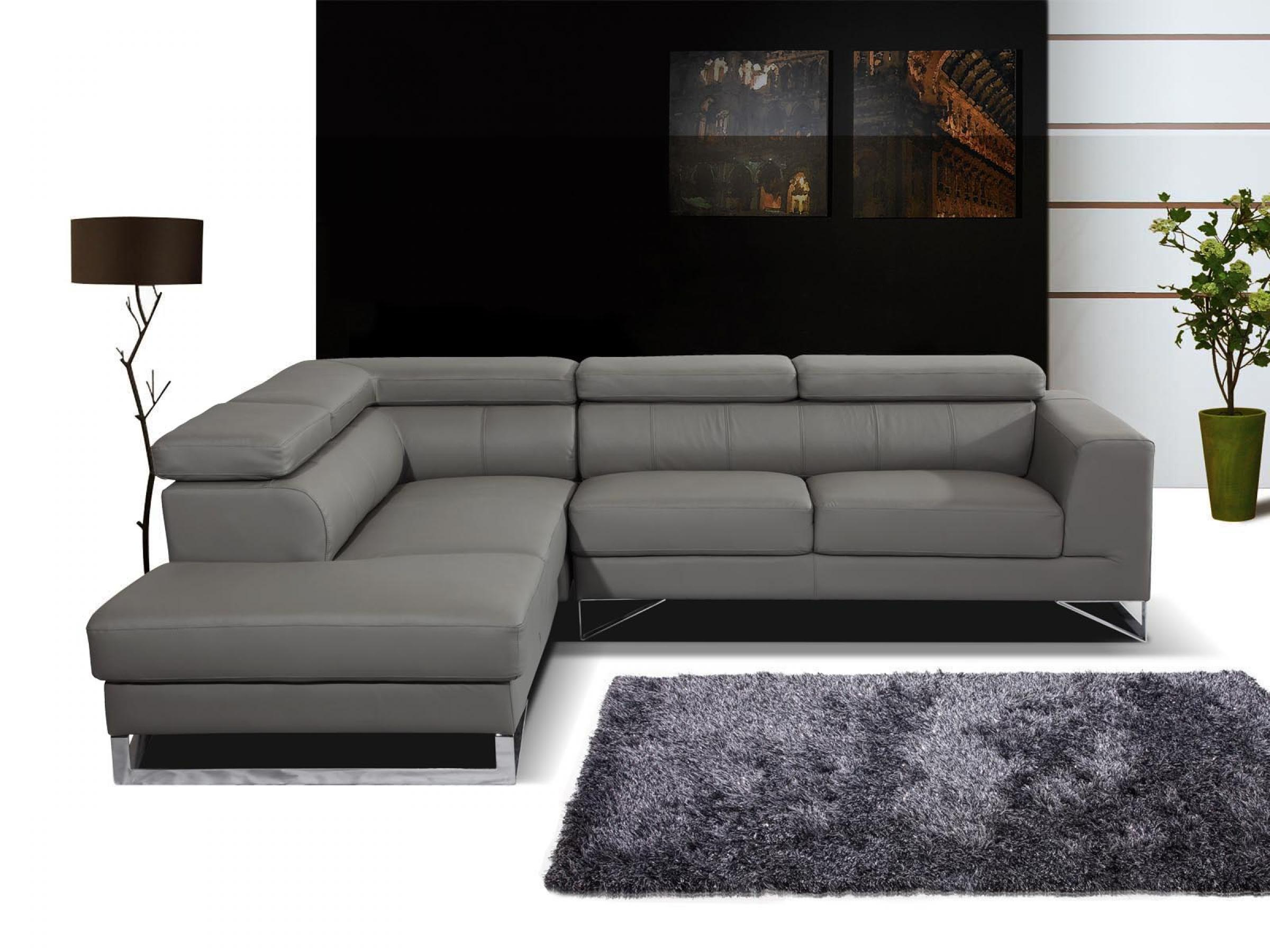 full canape d angle cuir gris conforama 16