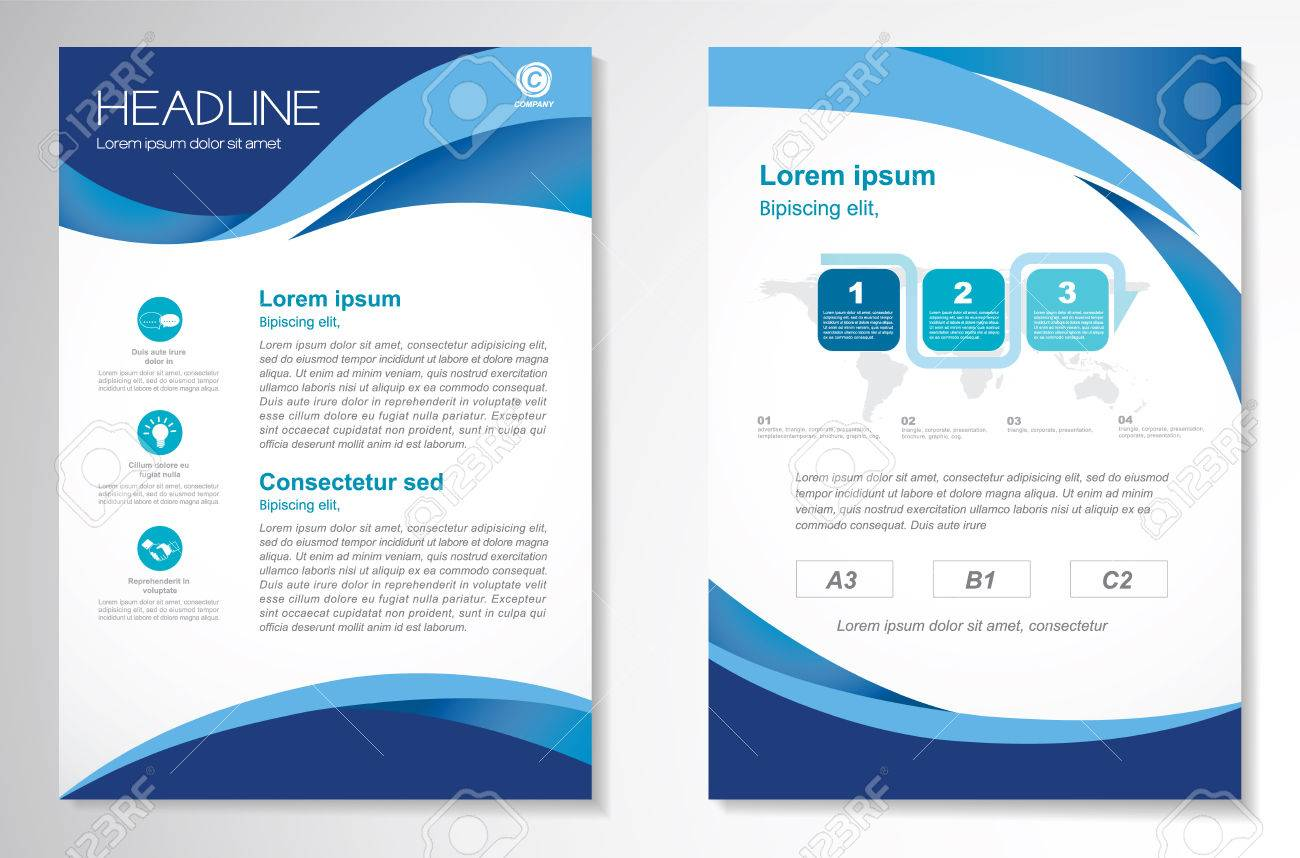 vector brochure flyer design layout template size a4 front page and back page infographics easy to u