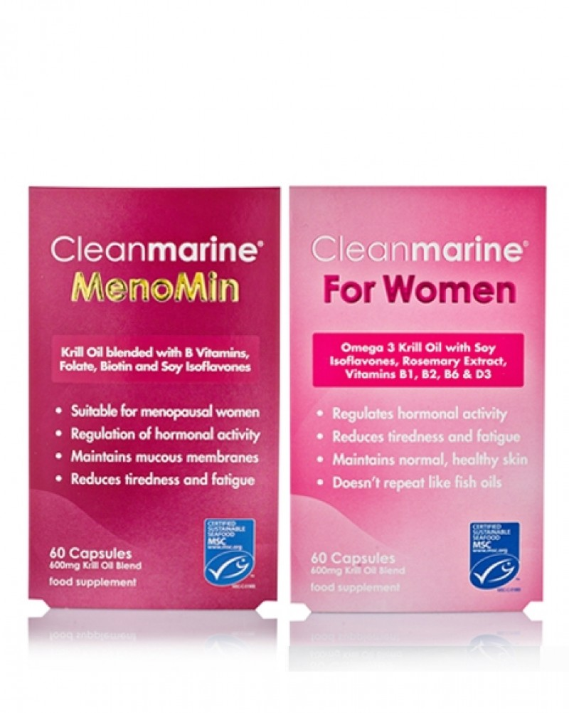 cleanmarine menomin for women twin pack 60 caps