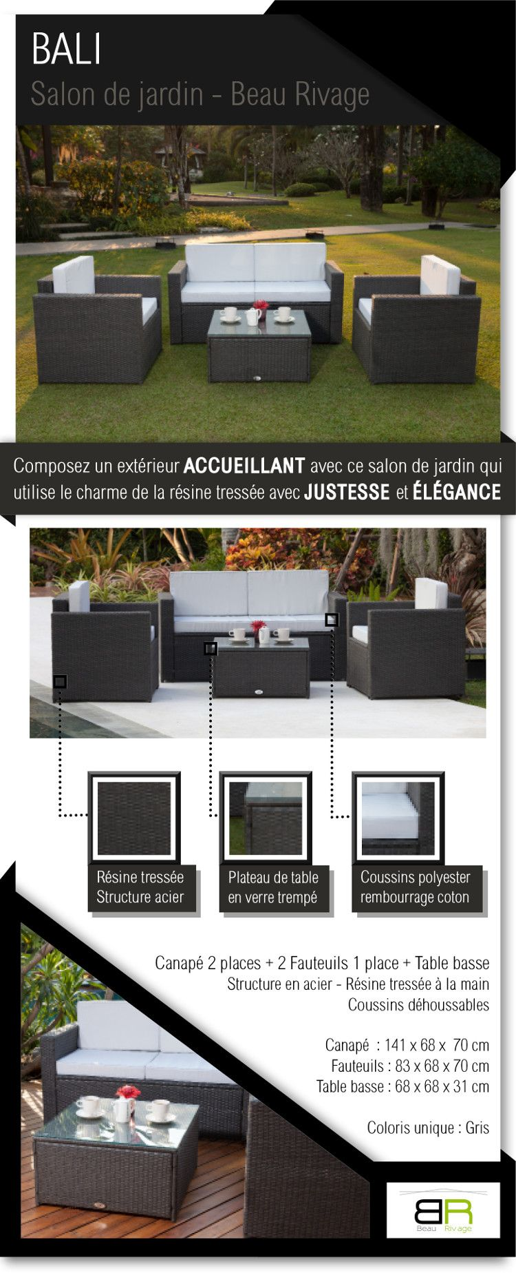 Cdiscount Mobilier De Jardin Nouveau Salon De Jardin Deco Studio