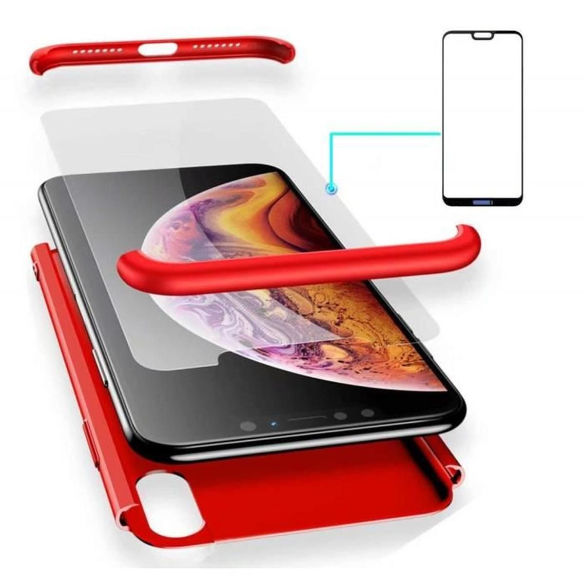 Cdiscount Smartphone Frais Coque Huawei P20 Lite étui 360 Degrés Housse Pc Hard Shell Anti Choc Full Cover Case Scratch De Verre Trempé Rouge Of 32 Élégant Cdiscount Smartphone