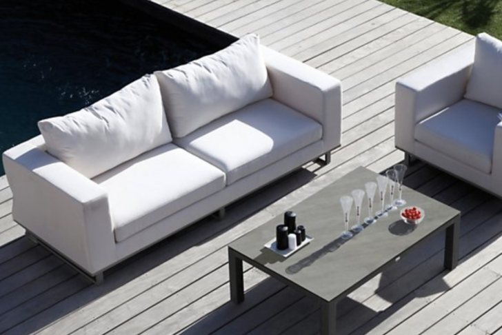 Chaise De Jardin Blanc Élégant Salon De Jardin Blanc Avec Un Canapé Et Un Fauteuil Avec Une