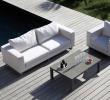Chaise De Jardin En Resine Charmant Salon De Jardin Blanc Avec Un Canapé Et Un Fauteuil Avec Une