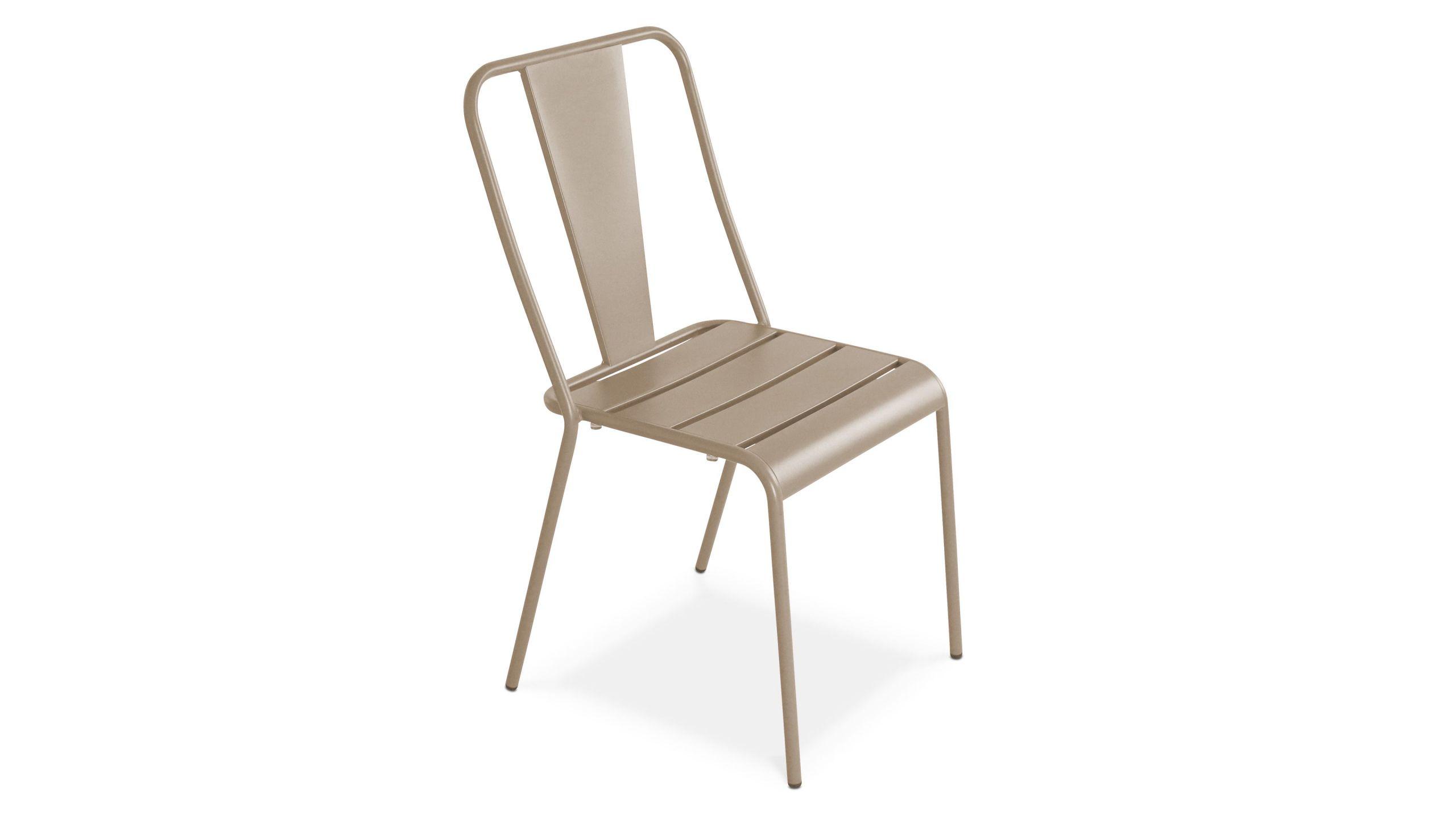 chaise de jardin bistrot en metal