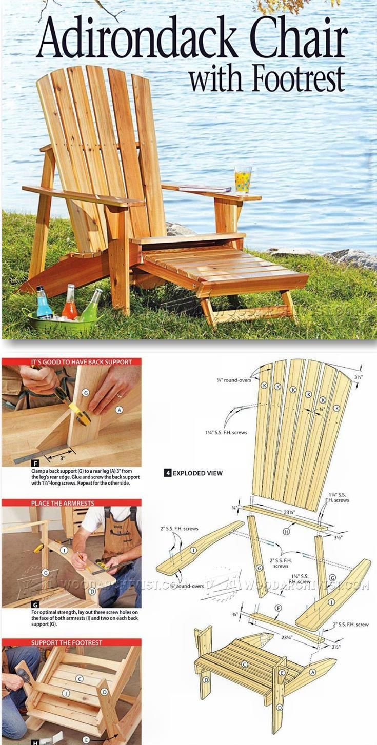 Chaise En Palette Plan Luxe Adirondack Chair Plans Outdoor Furniture Plans & Projects