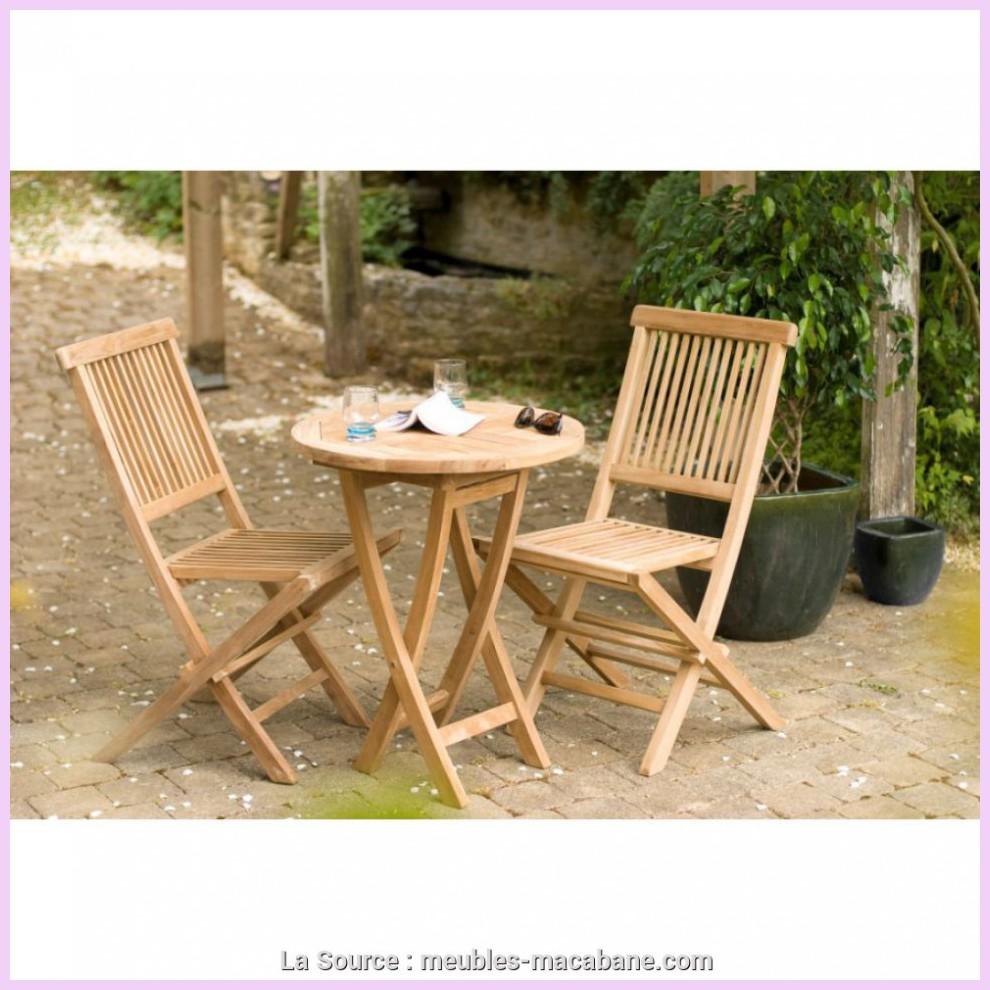 cool table jardin ronde teck