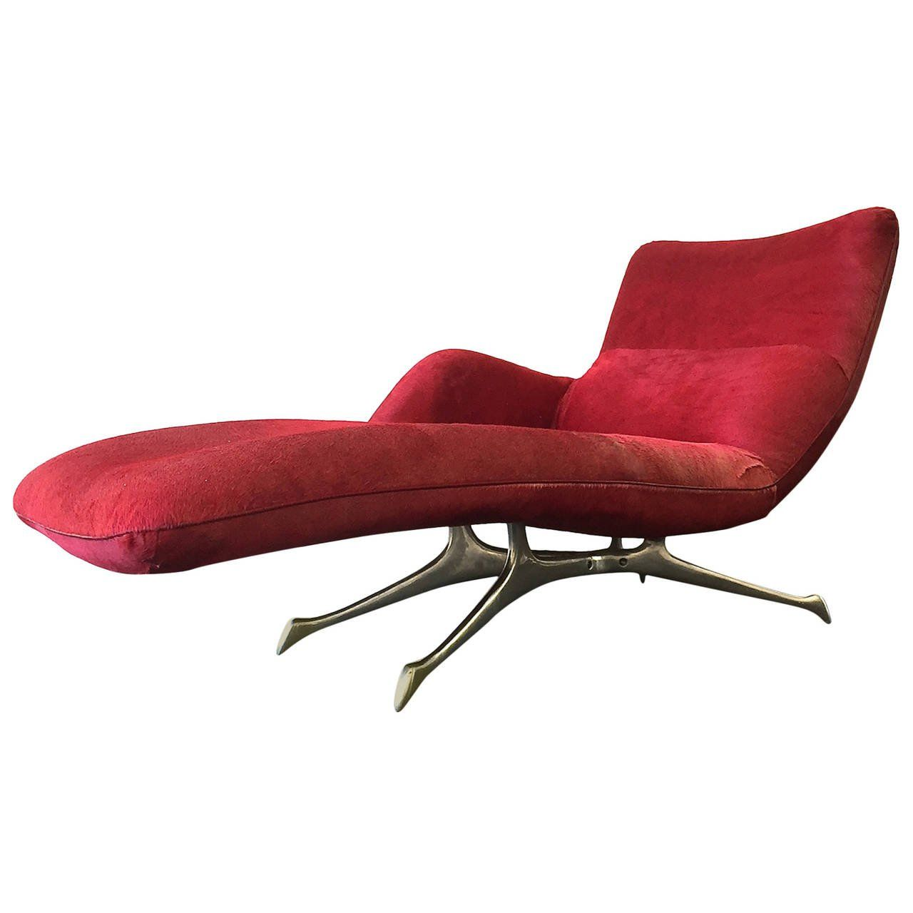 Chaise Longue De Salon Génial Vk Chaise by Vladimir Kagan Covered In Red Fur