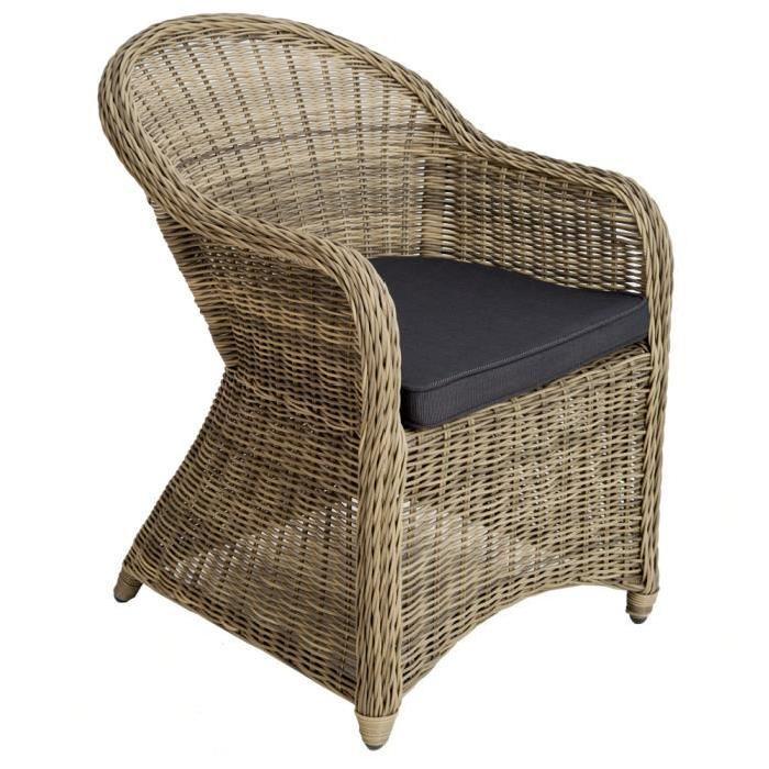 chaise fauteuil de jardin de salon en r sine tress e poly
