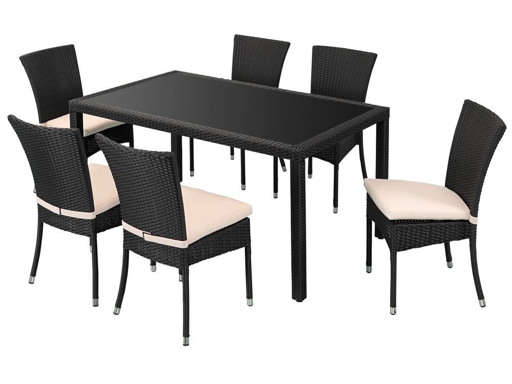table et chaise de jardin en r sine tress e pas cher