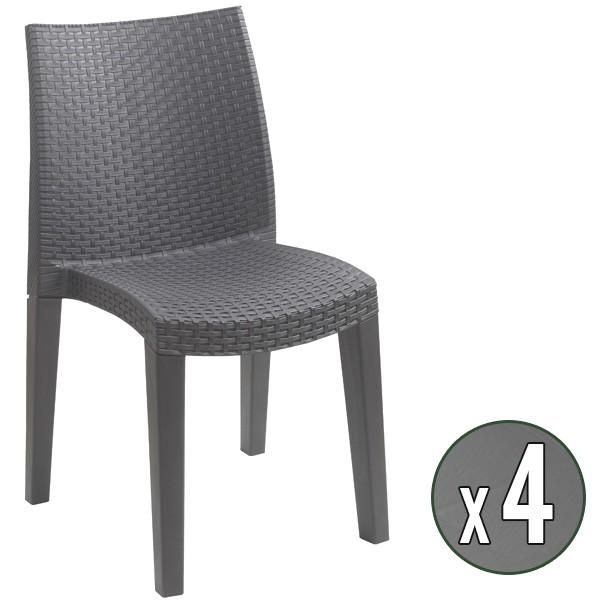 chaise de jardin gris fauteuil de jardin terra gris fonc lot de 6 testez nos acheter chaise grise foncee design pour jardin chaise de jardin gris 18 previous