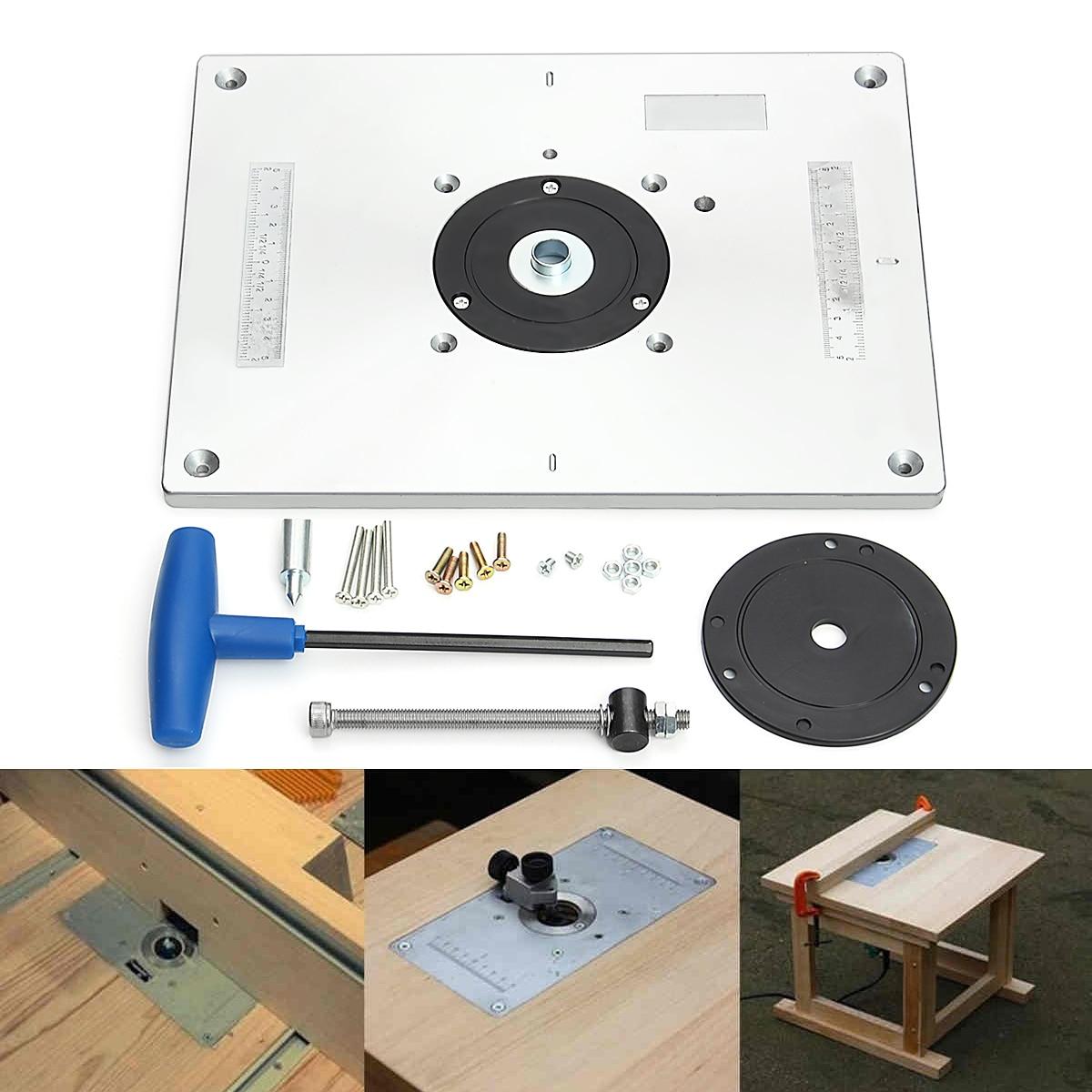 En aluminium Table de Toupie Plaque D insertion Pour Populaire Routeur Tondeuses Modèles Gravure Machine DE