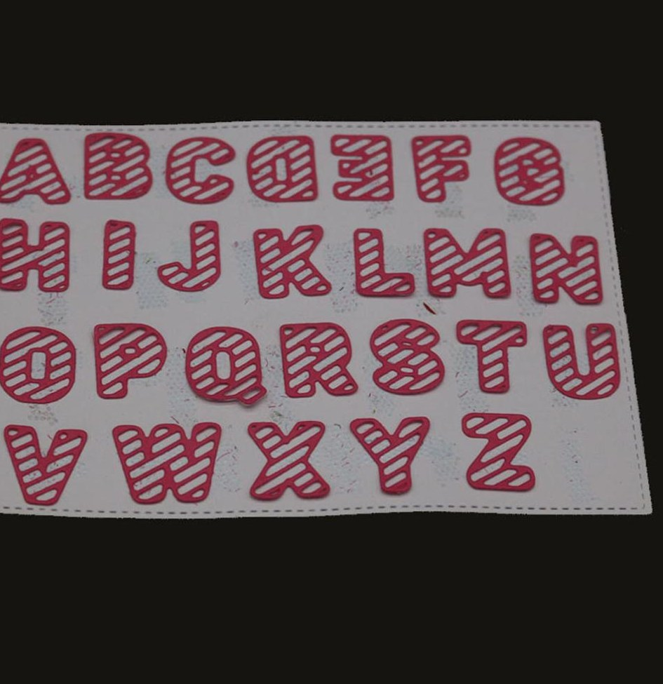 Metal cutting s for scrapbooking Big Alphabet Letters Dies Stencils for DIY Scrapbooking font b
