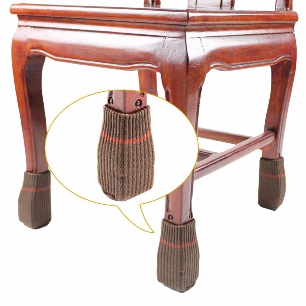 16 PCS Tricot chaise jambe ensembles table chaussettes chaise chaussettes lastique piernas conjuntos de haute qualit