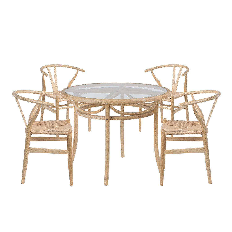 lot table thon bois 4 chaises uish