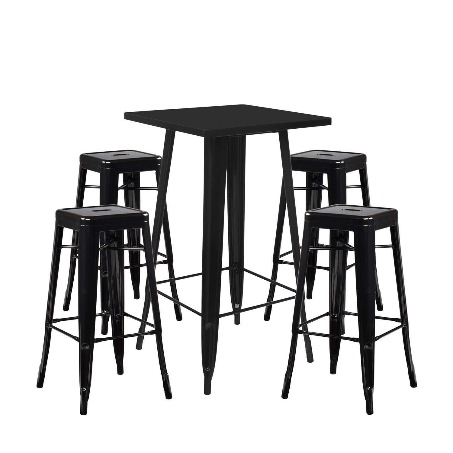 lot de table haute lix 4 tabourets hauts lix