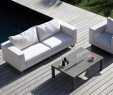 Fauteuil De Table Luxe Salon De Jardin Blanc Avec Un Canapé Et Un Fauteuil Avec Une