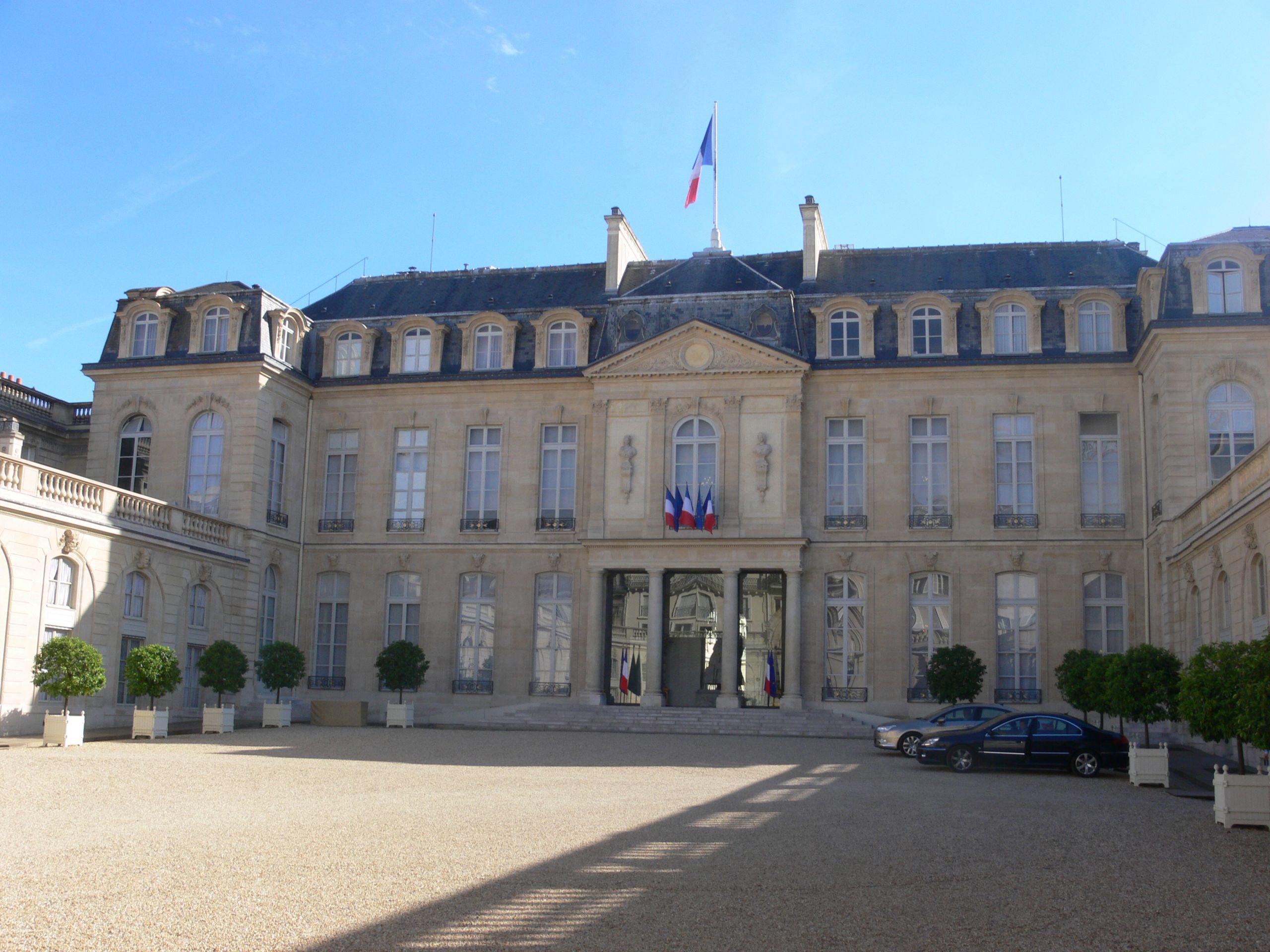 Paris palais de l Élysée cour 05 JPG