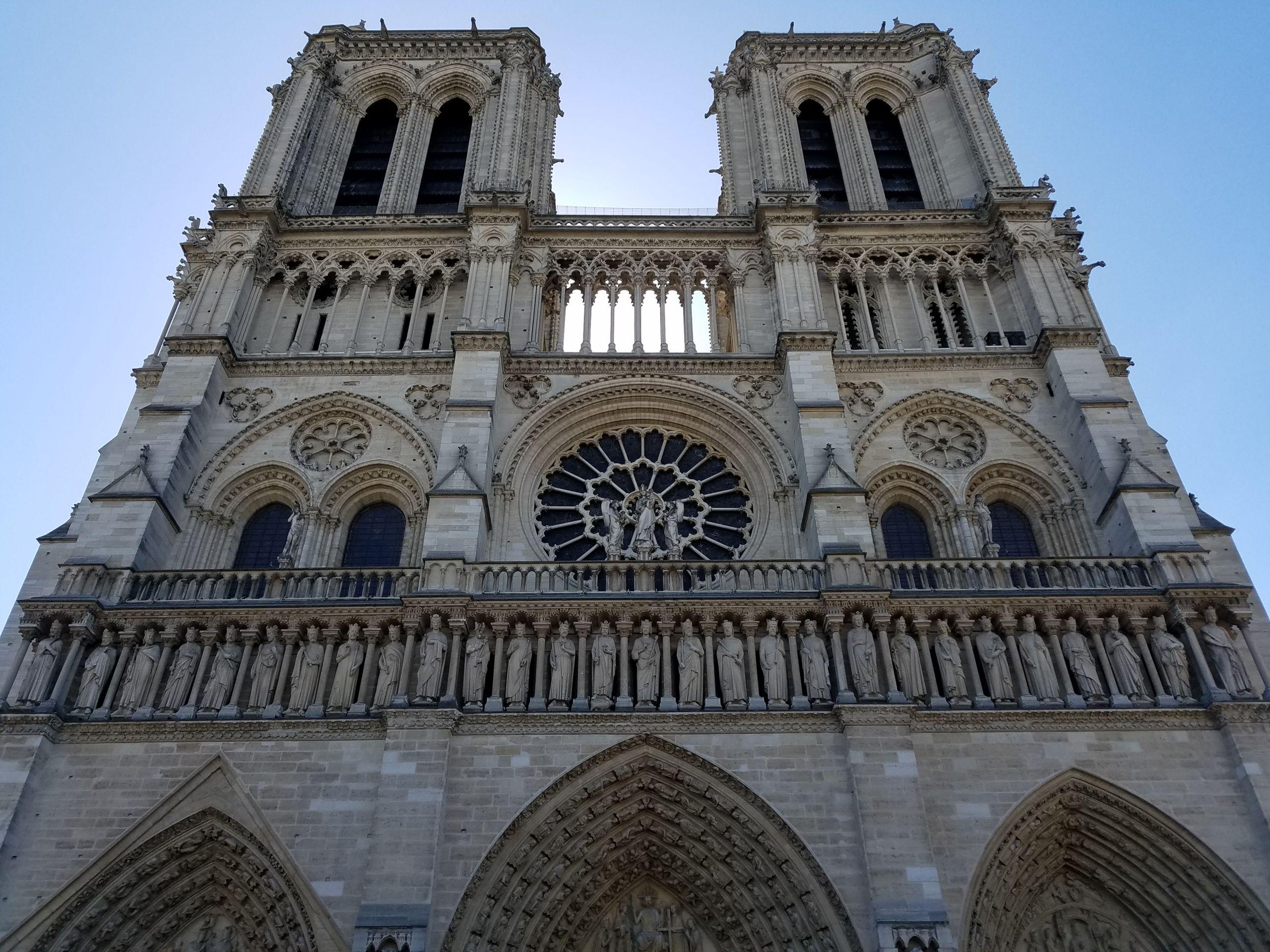 Facade of Notre Dame de Paris 2018 06 23