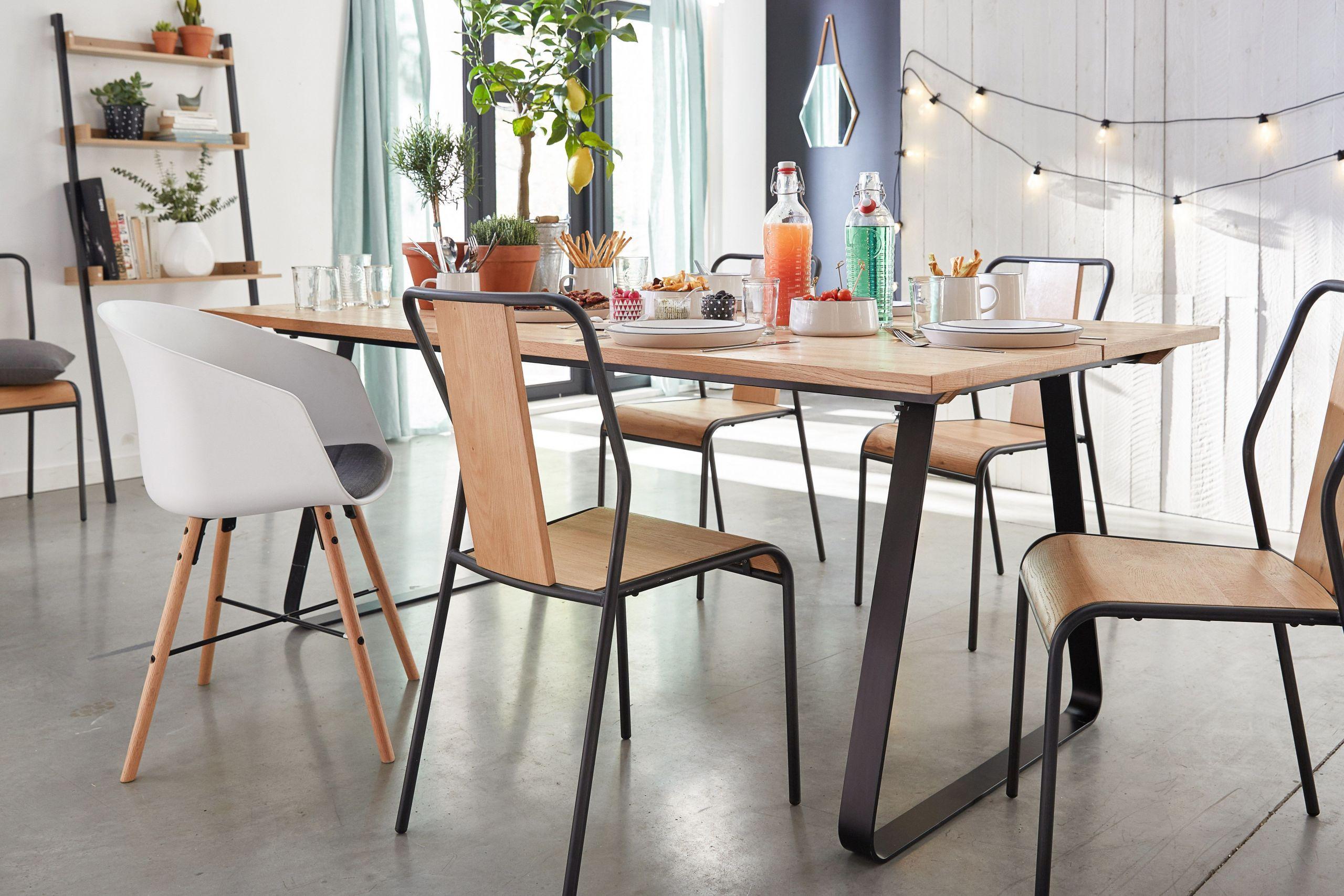 chaises alinea salle a manger elegant fantine table manger style indus alinea of chaises alinea salle a manger
