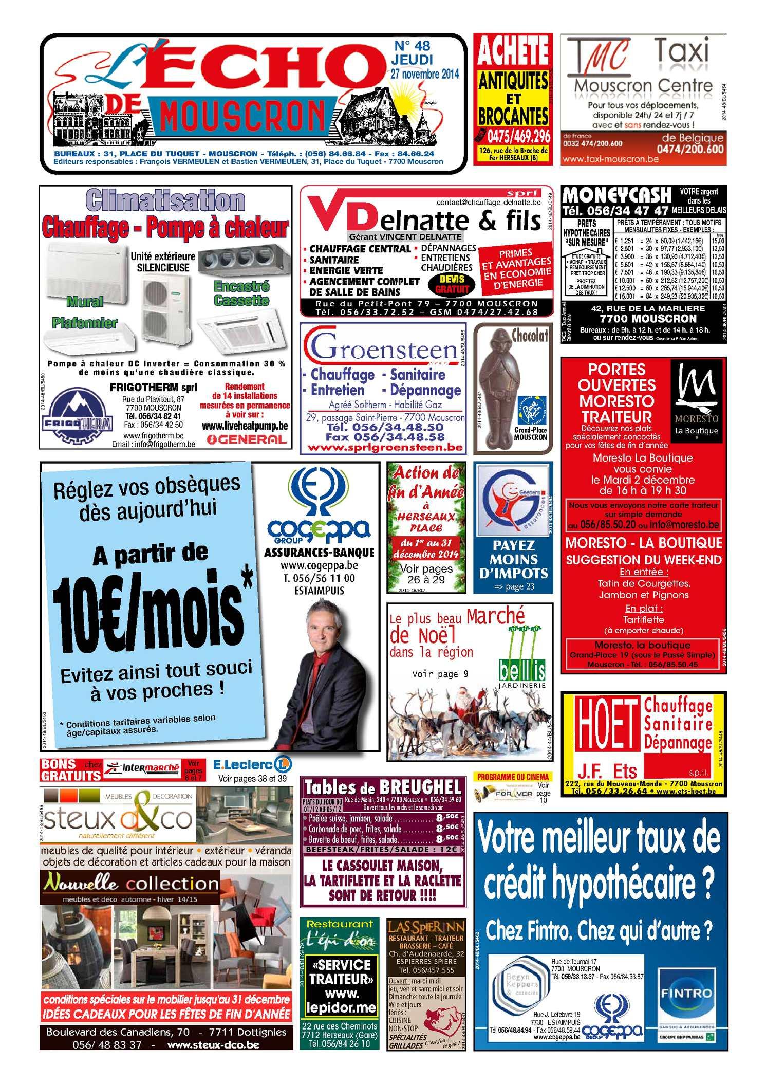 Menu De Noel Leclerc Luxe Calaméo 48 2014 Of 37 Élégant Menu De Noel Leclerc