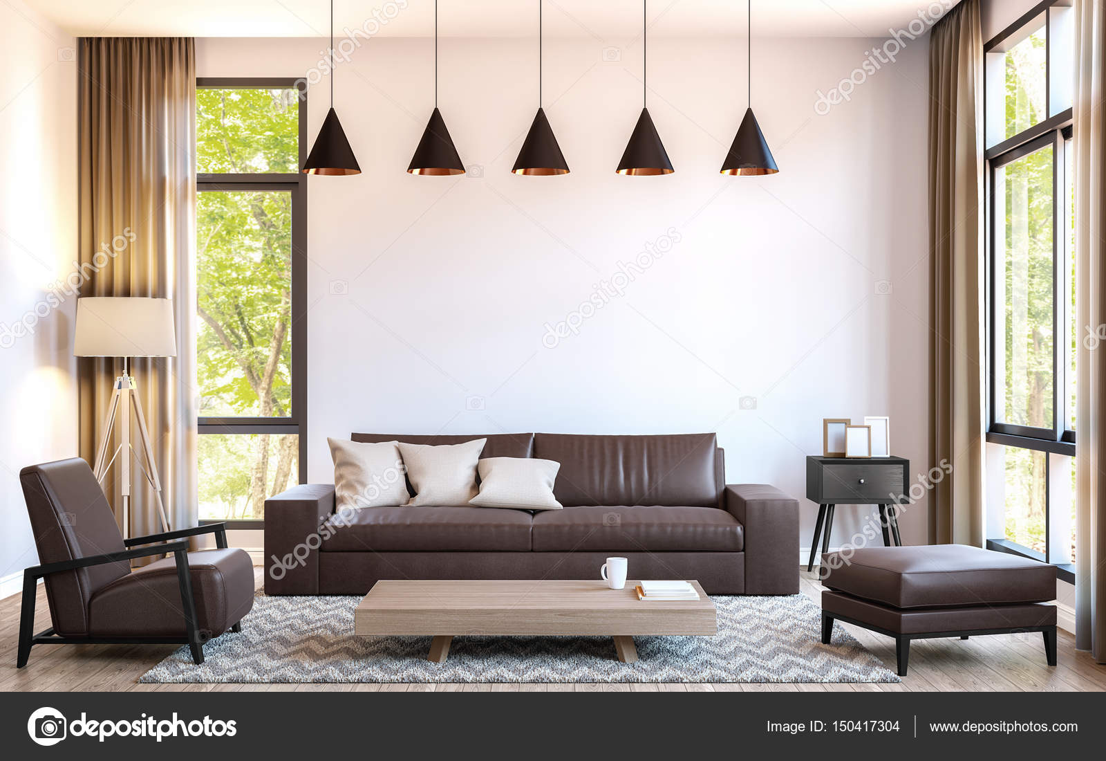 depositphotos stock photo modern living room decorate with