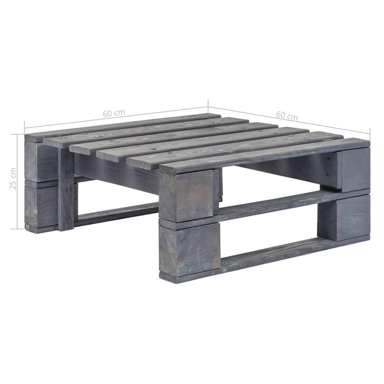 vidaxl repose pied palette de jardin bois fsc gris 5 v2