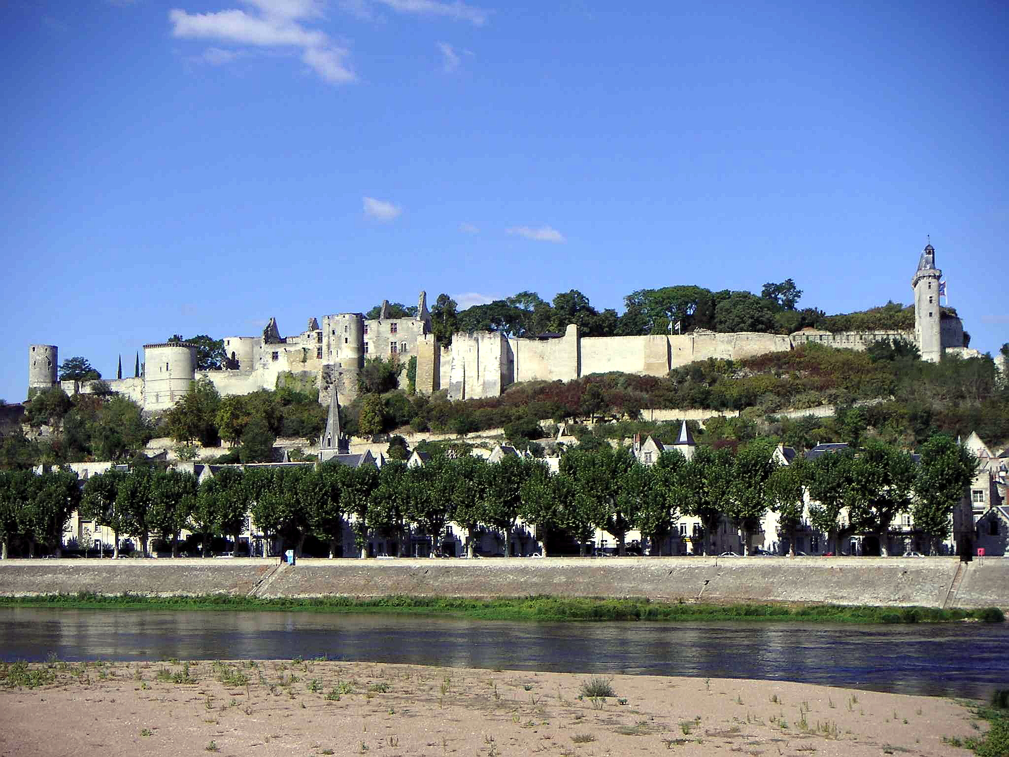 Château de Chinon vue de la Vienne JPG