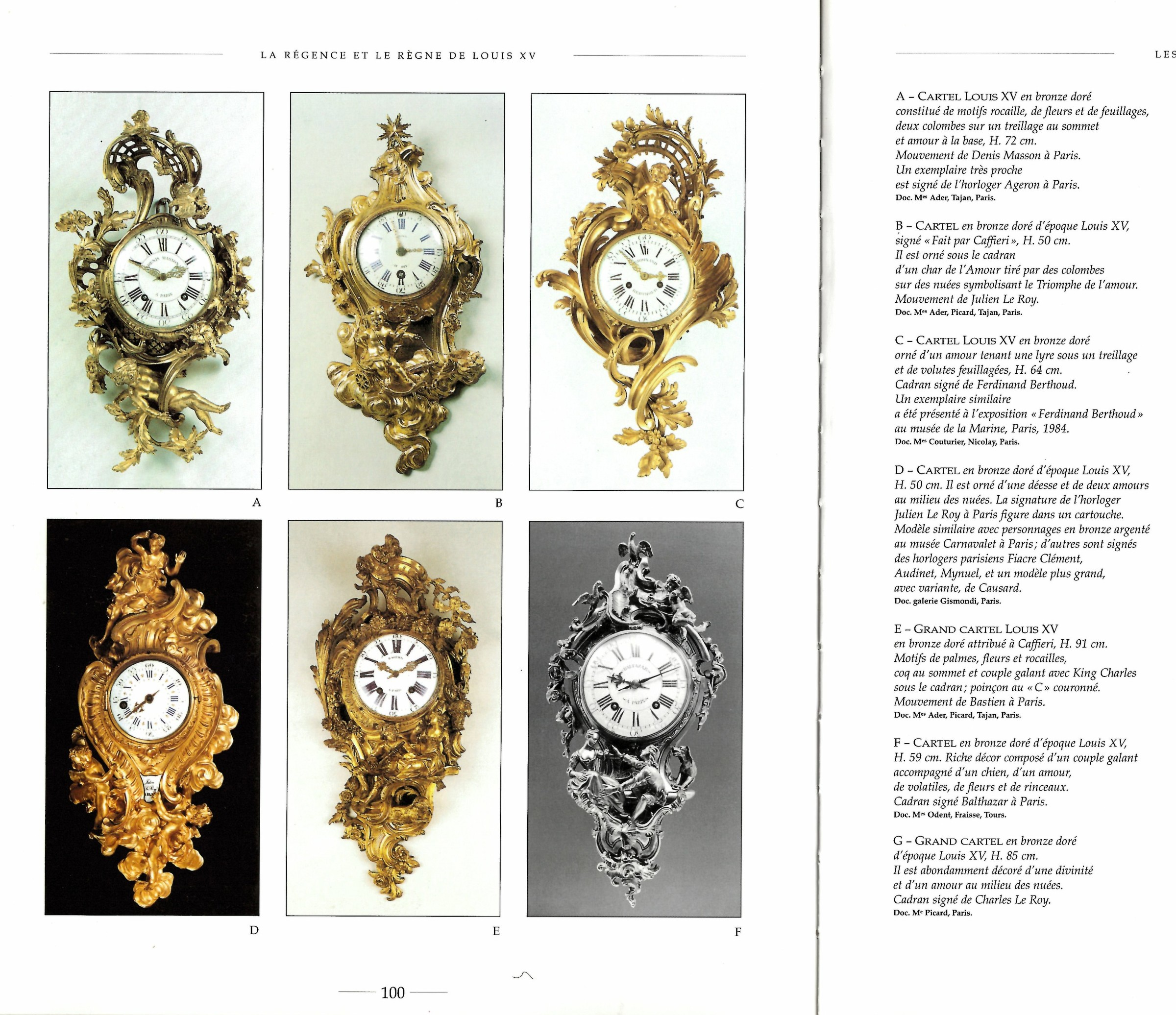 Mobilier De France tours Charmant Charles Baltazar An Louis Xv Cartel Clock Of Fourteen Day