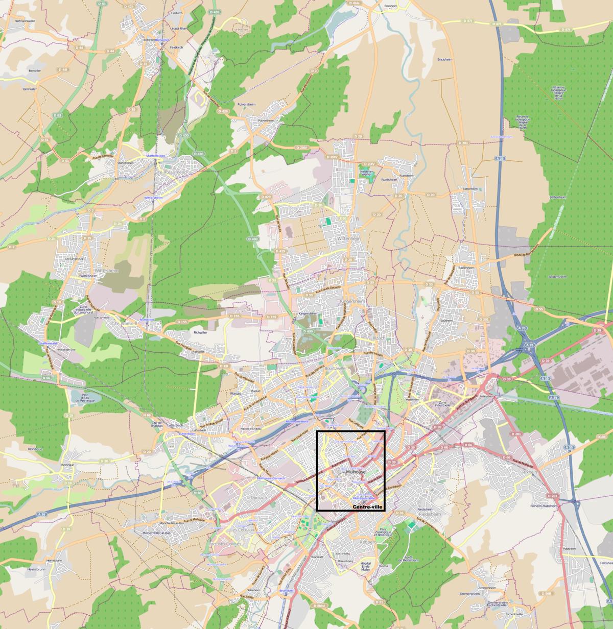 1200px Cartemulhouse ville centre et banlieue