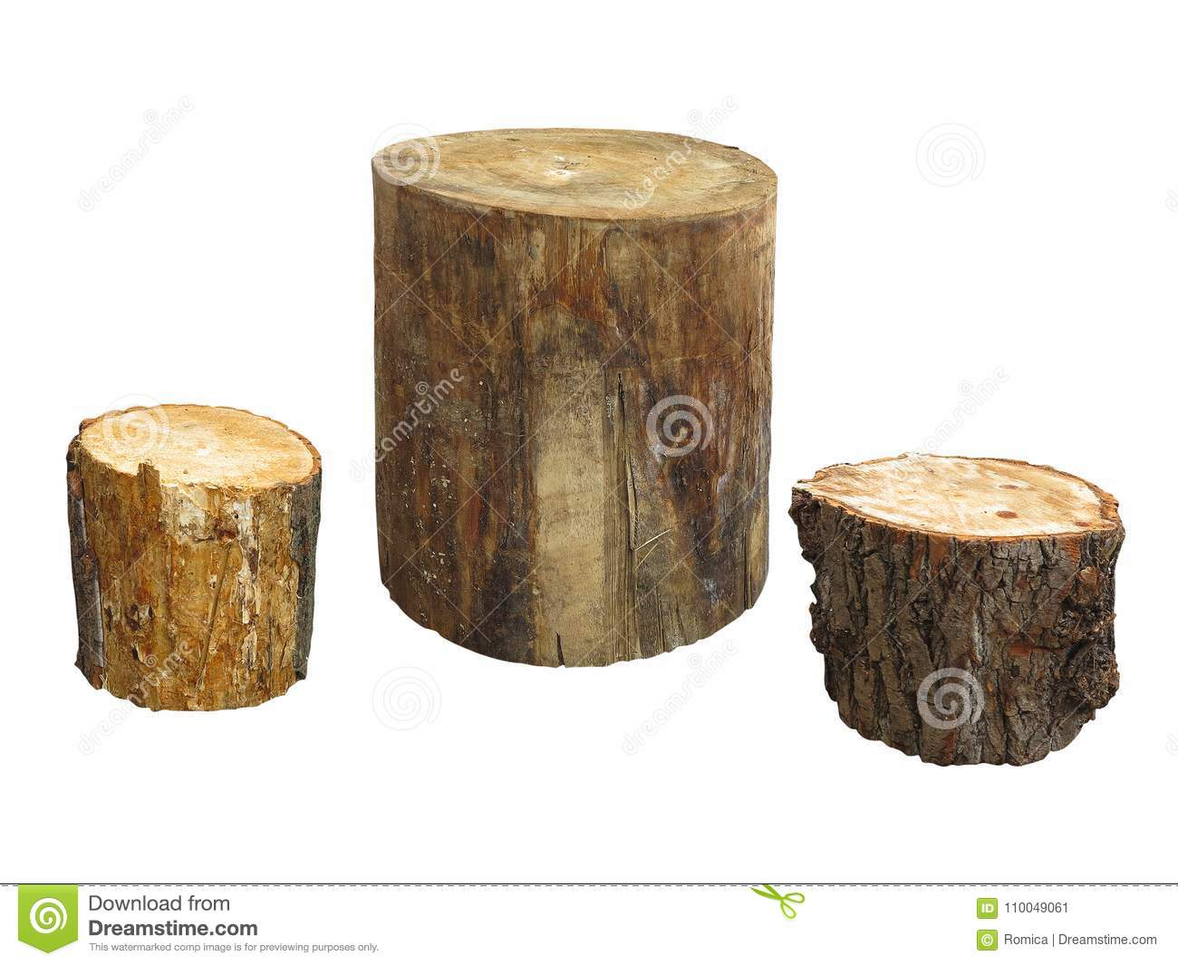 meubles de jardin faits à partir du rondin en bois d isolement sur le backgrou blanc
