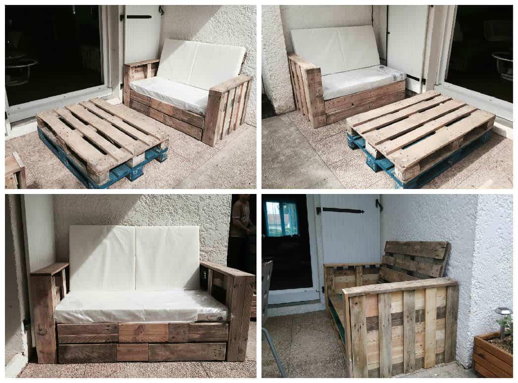 Palette Salon De Jardin Frais Pallet Bo Bench Planter Terrace • 1001 Pallets